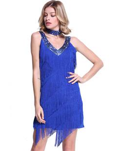 /fr/blue-deep-v-neck-side-slit-sway-flapper-dress-p-6366.html