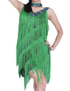 /green-deep-v-neck-side-slit-sway-flapper-dress-p-6372.html