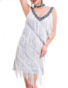 /white-deep-v-neck-side-slit-sway-flapper-dress-p-6364.html