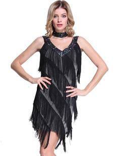 /silver-deep-v-neck-side-slit-sway-flapper-dress-p-6362.html