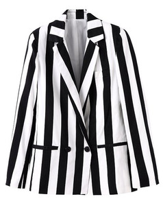 /fr/black-white-vertical-stripe-lapel-loose-suit-blazer-p-4772.html