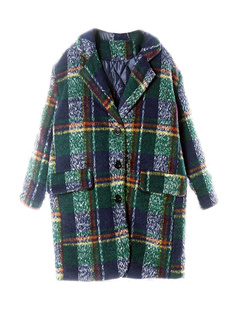 /green-plaid-lapel-twin-plackets-wool-coat-p-1027.html