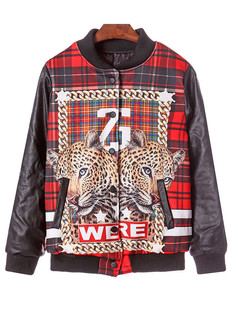 /contrast-faux-leather-plaid-double-tiger-head-print-jacket-p-1206.html