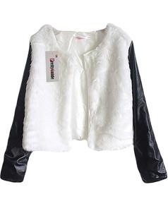 /es/contrast-faux-leather-sleeve-fur-winter-coat-p-5696.html