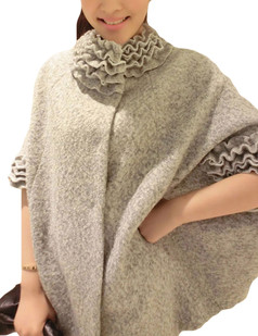 /ruffle-stand-collar-loose-woolen-cape-coat-grey-p-5862.html