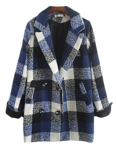 /plaid-faux-woolen-lapel-loose-coat-p-5918.html