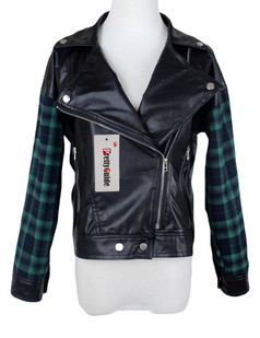 /contrast-green-plaid-lapel-zip-faux-leather-jacket-p-5680.html