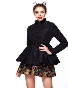 /black-embossed-waves-peplum-down-outerwear-coat-p-1097.html