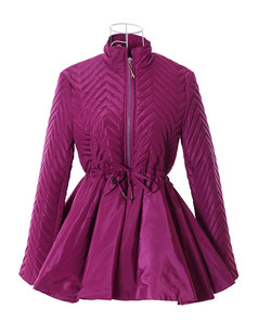/purple-embossed-waves-peplum-down-outerwear-coat-p-1100.html