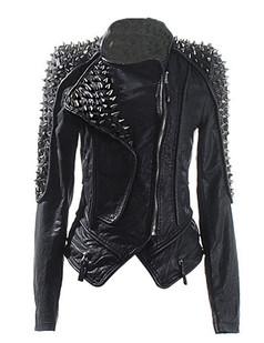 /power-studded-notch-lapel-zip-faux-leather-biker-jacket-coat-p-4794.html