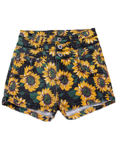 /sunflower-print-denim-high-waist-shorts-hot-pants-black-p-3196.html