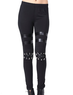 /punk-women-rivets-and-off-pu-knee-style-elastic-waist-cotton-leggings-p-398.html