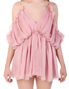/deep-v-neck-loose-pleated-romper-playsuit-pink-p-3154.html