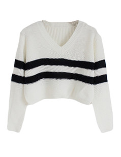 /vneck-striped-knit-crop-sweater-white-p-5504.html