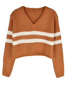 /vneck-striped-knit-crop-sweater-camel-p-5768.html