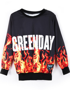 /green-dayburning-fire-flame-print-sweatshirt-p-757.html