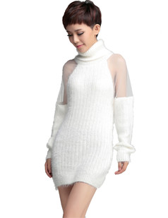 /women-mohair-mesh-sheer-shoulder-turtle-neck-long-sweater-white-p-705.html