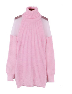 /women-mohair-mesh-sheer-shoulder-turtle-neck-long-sweater-pink-p-1222.html