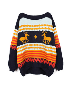 /deers-and-waves-strips-patterns-printed-sweater-navy-p-1213.html