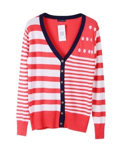 /v-neck-stripe-color-contrast-preppy-chic-cardigan-knitwear-p-688.html