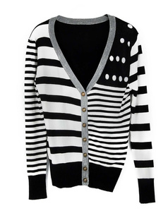/es/v-neck-stripe-color-contrast-preppy-chic-cardigan-knitwear-p-690.html