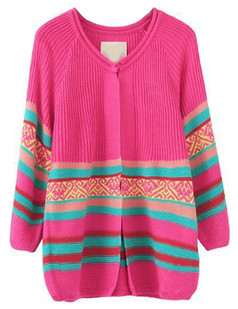 /striped-cropped-sleeve-knit-cardigan-rose-p-4920.html