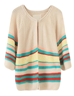 /striped-cropped-sleeve-knit-cardigan-beige-p-4922.html