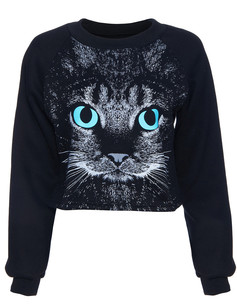 /cat-face-print-black-crop-sweatshirt-p-878.html