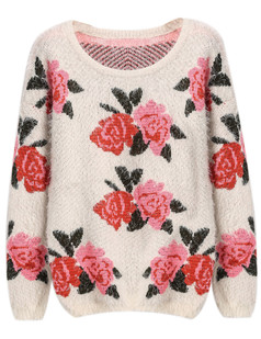 /red-rose-print-fluffy-shaggy-pullover-sweater-beige-p-5710.html