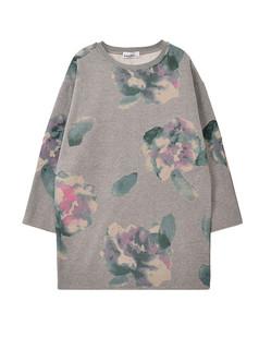 /grey-abstract-floral-ink-loose-print-sweatshirt-p-1177.html
