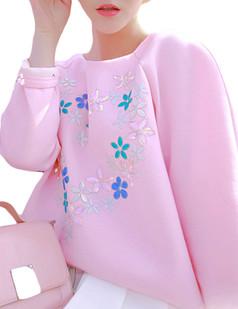 /bead-flower-decals-loose-jumper-sweatshirt-p-5288.html