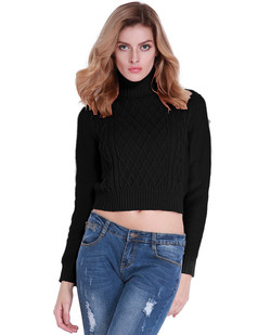 /turtleneck-twist-cable-knit-crop-sweater-black-p-6996.html