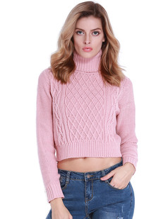 /turtleneck-twist-cable-knit-crop-sweater-pink-p-7016.html