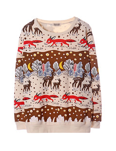 /beige-long-sleeve-deer-fox-snowflake-print-sweatshirt-p-1194.html