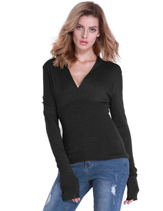 /v-neck-empire-waist-long-sleeve-knit-top-black-p-6782.html