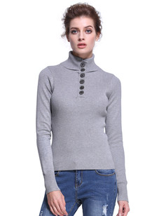 /mock-neck-slim-fit-ribbed-pullover-sweater-top-gray-p-7316.html
