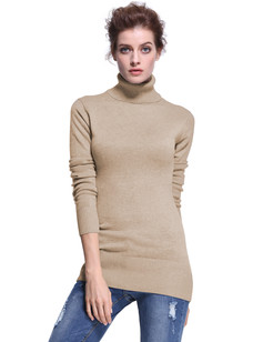 /women-turtleneck-ribbed-trim-tunic-sweater-camel-p-7336.html