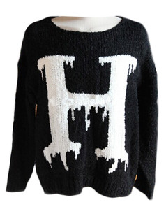 /oversize-letters-h-contrast-knit-sweater-black-p-5302.html