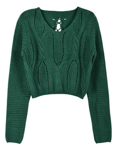 /eyelet-cable-knit-lace-up-crop-sweater-green-p-5708.html