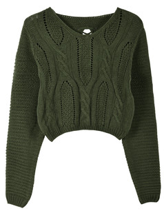 /eyelet-cable-knit-lace-up-crop-sweater-dark-green-p-5766.html