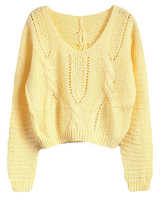 /eyelet-cable-knit-lace-up-crop-sweater-yellow-p-5706.html