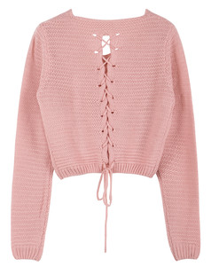 /eyelet-cable-knit-lace-up-crop-sweater-pink-p-3256.html