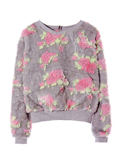 /flowers-embellished-faux-fur-sweatshirt-grey-p-1299.html