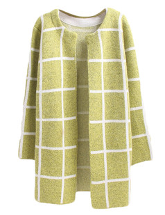 /plaid-pocket-knit-cardigan-coat-yellow-p-5150.html