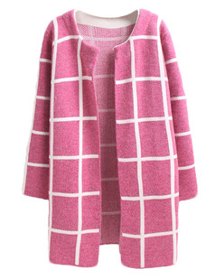 /plaid-pocket-knit-cardigan-coat-rose-p-5146.html