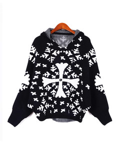 /black-asymmetric-snowflake-cross-christmas-hooded-sweater-p-1237.html
