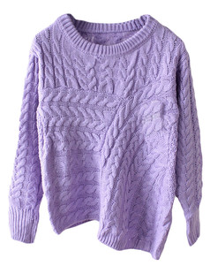 /purple-asymmetrical-cable-knit-jumper-sweater-p-5364.html