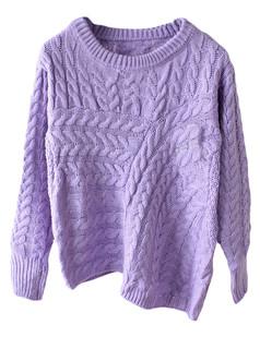 /pt/purple-asymmetrical-cable-knit-jumper-sweater-p-5364.html