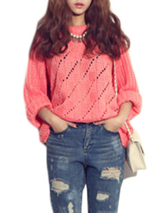/hollow-knitted-loose-sweater-red-p-5214.html