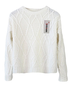 /plaid-twist-cable-knit-jumper-sweater-beige-p-5210.html